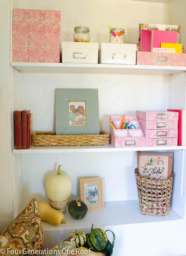 back door built in bookcase