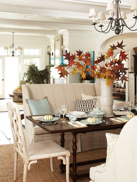 fall decorating ideas bhg tablescape