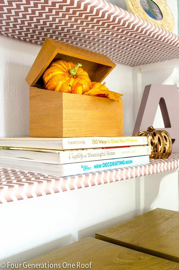 lavender_gold_bookcase_decorating-5