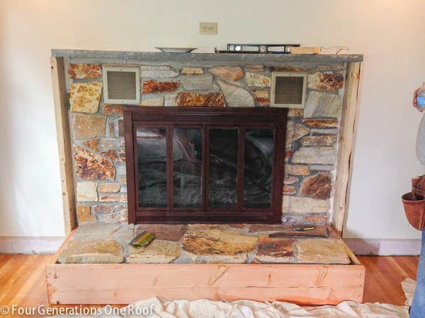 fireplace makeover begins