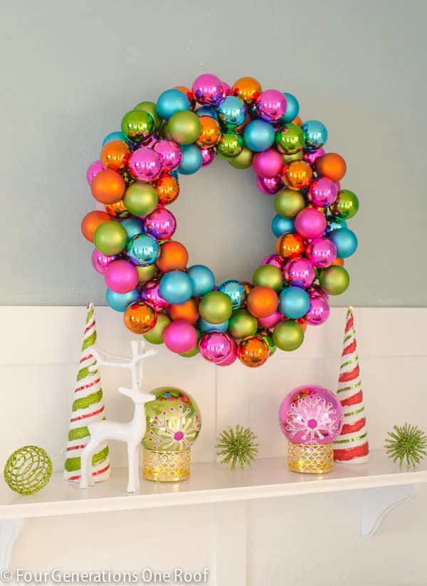 How to make an ornament wreath-5