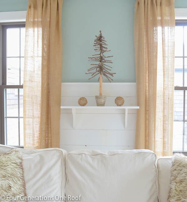how to make a shelf christmas mantel-6