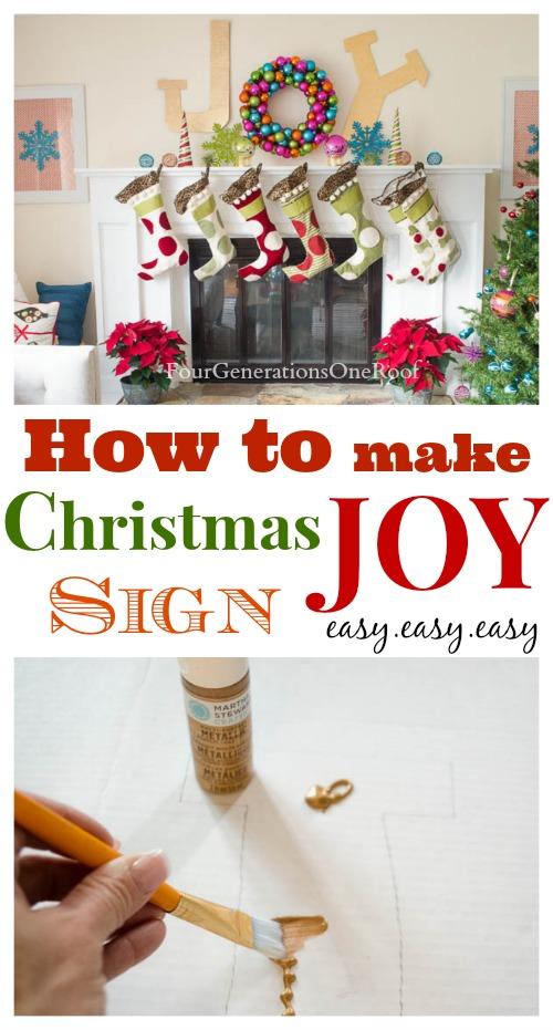 how to make a chrismtas joy sign