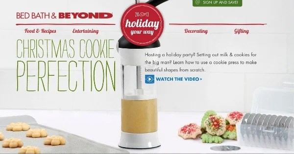 bed bath and beyond holiday home page