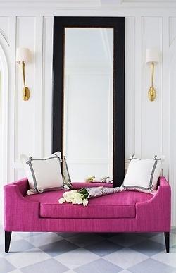 fuschia couch
