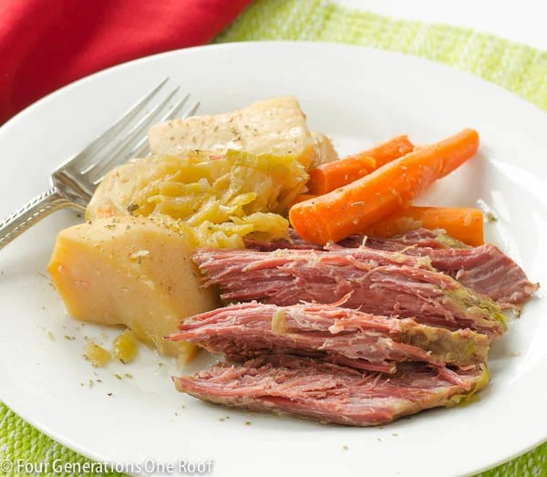 corn beef and cabbage crockpot