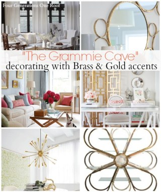 gold and brass accents