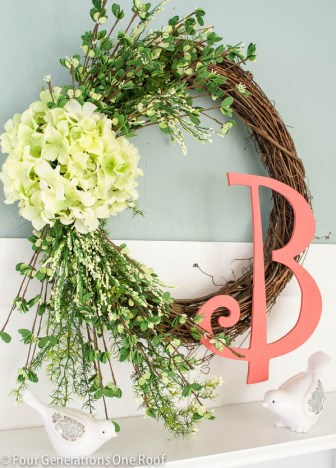 how to make a wreath {spring hydrangea}-9