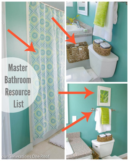 master bathroom resource list.