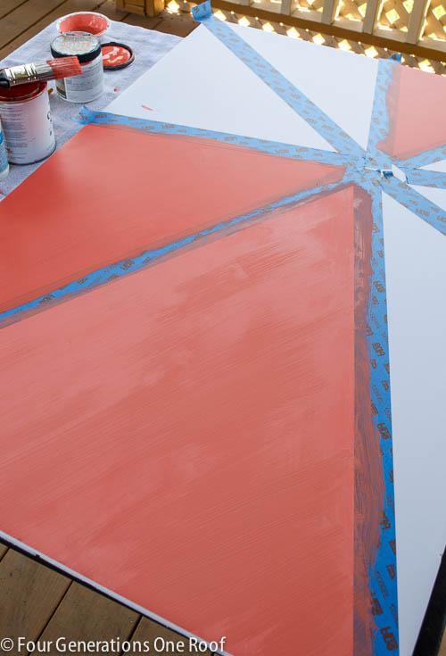 orange ombre wall art-7