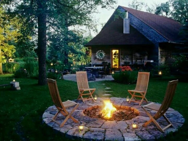 DIY Fire pit ideas stone