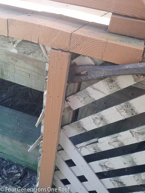 Deck repair + ripping out old lattice-5