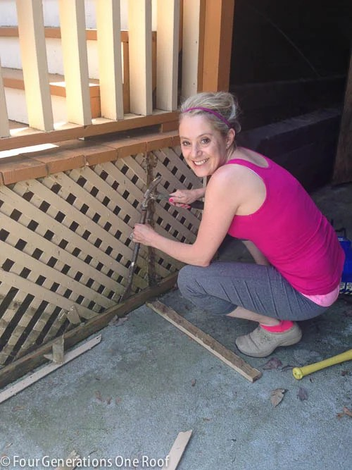 Deck repair + ripping out old lattice-6