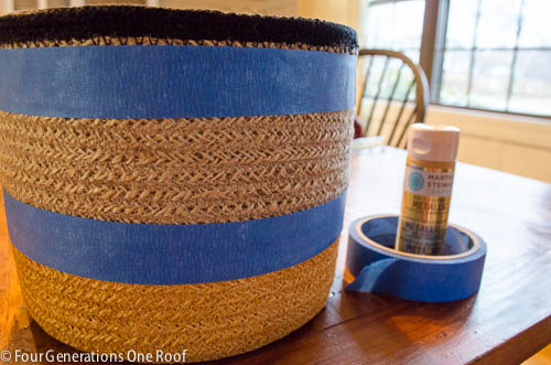how to paint a basket with acrylic paint www.fourgenerationsoneroof.com