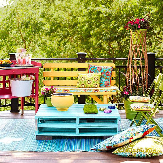 colorful outdoor accents