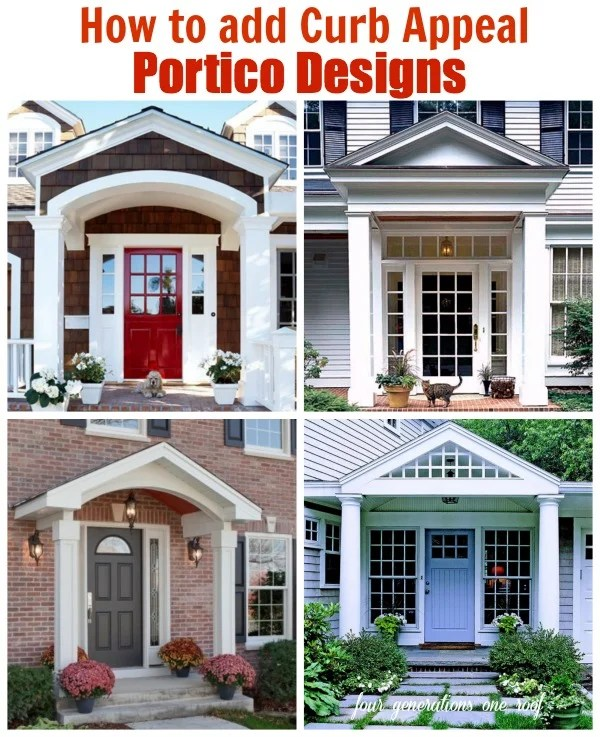 how to add curb appeal with a portico. A family of four generations living under one roof expands their home and adds a new portico to the front of their home to create architectural interest and character.