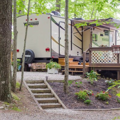Campsite + deck makeover {before & after}