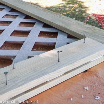How to build a lattice privacy screen on a budget with my dad