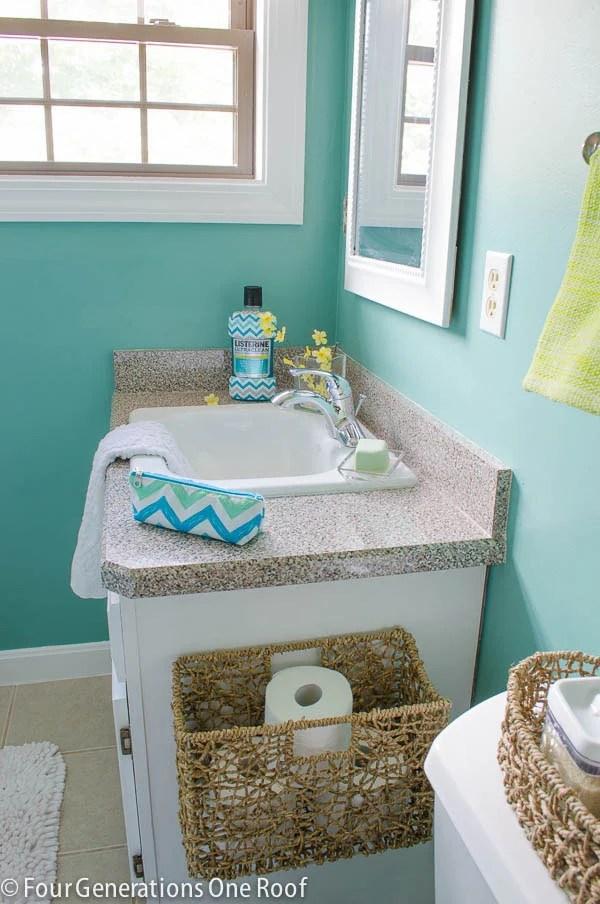mini bathroom makeover listerine-7