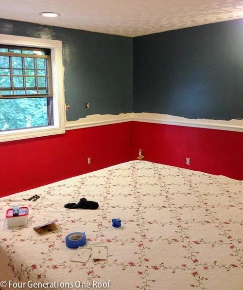blue master bedroom paint progress-3