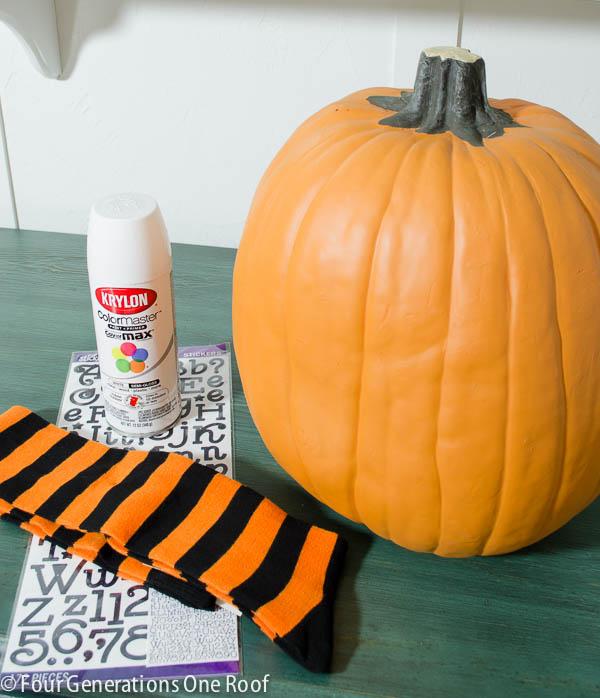fun diy halloween pumpkin in 30 minutes or less + tutorial
