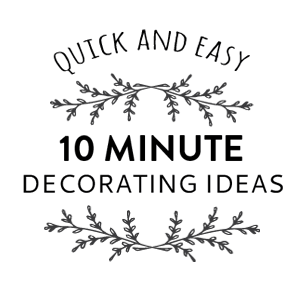 10 minute coffee table decorating ideas