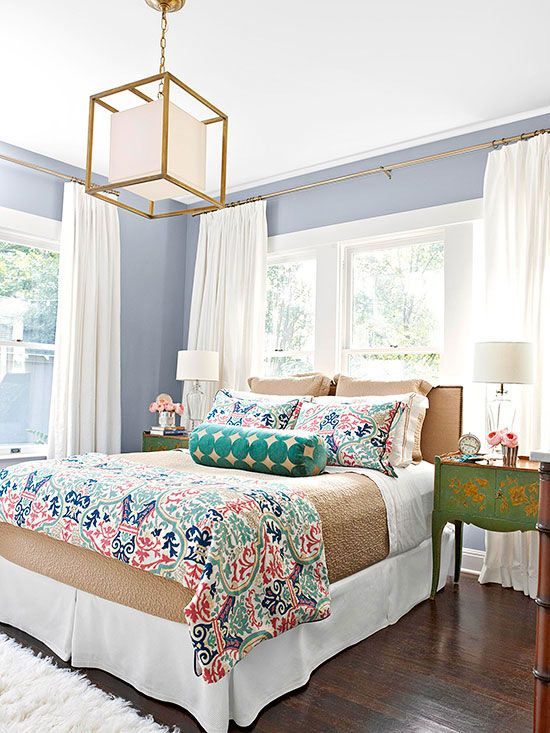 gorgeous master bedrooms blue + brown