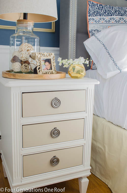 Gorgeous Navy blue master bedroom makeover -13