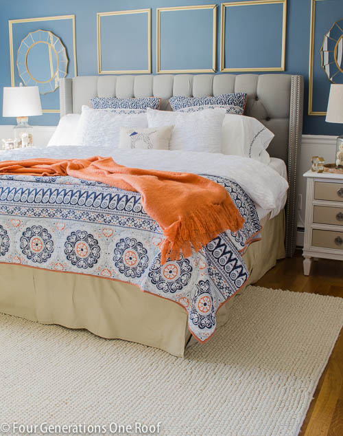 Gorgeous Navy blue master bedroom makeover -2