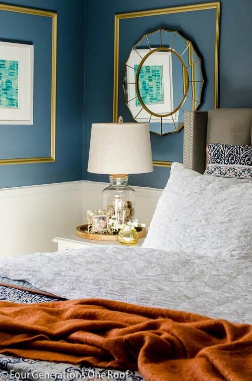 Gorgeous Navy blue master bedroom makeover -4
