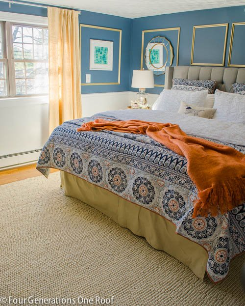 Gorgeous Navy blue master bedroom makeover -5