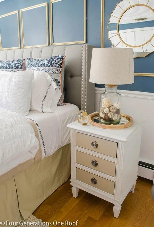 Gorgeous Navy blue master bedroom makeover -7