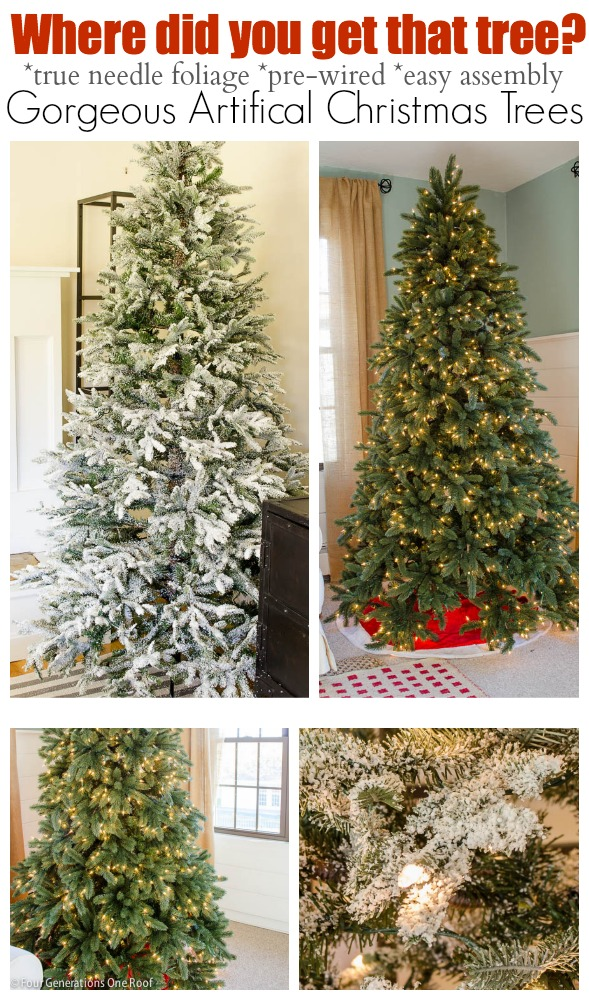 Where to buy a gorgeous artificial Christmas tree