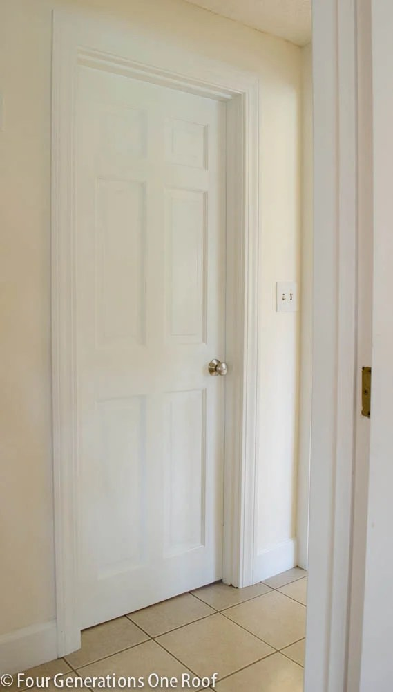 how to paint dark stained doors