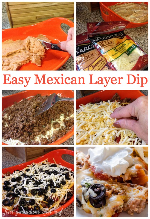 Easy Mexican Layer Cheese Dip
