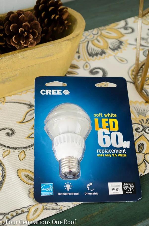 pretty brass lamp + lets save money