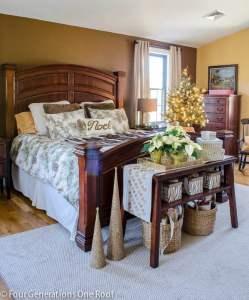 Christmas Woodland themed bedroom -Gorgeous Christmas Home Tour 2014-3