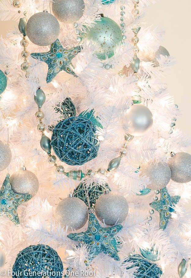 White + Blue Christmas tree-2