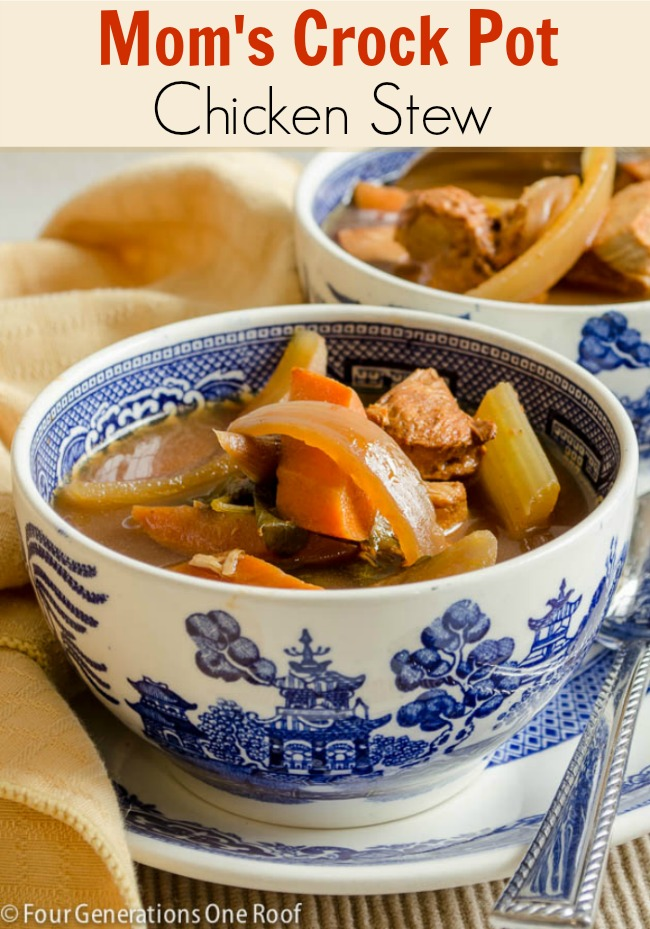 Mom's Crock Pot Chicken Stew