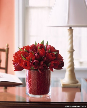 valentine candy vase