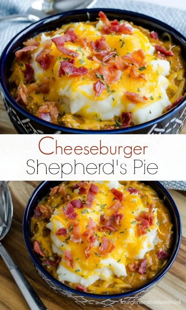cheeseburger shepherd's pie / easy + no bake