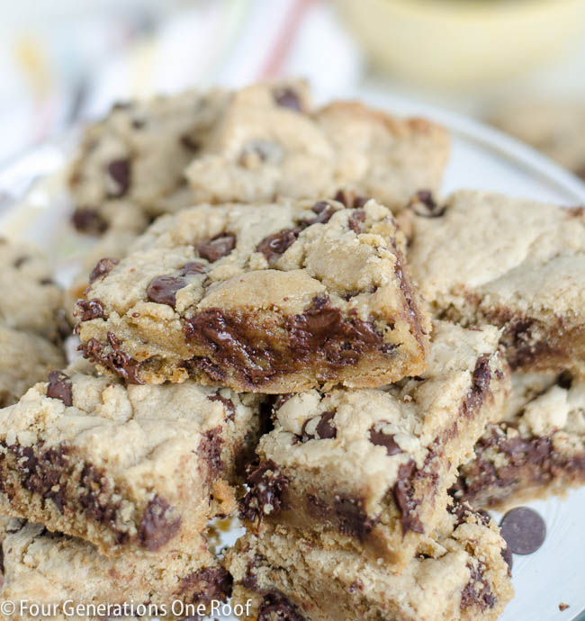 easy chocolate chip cookie dough bars