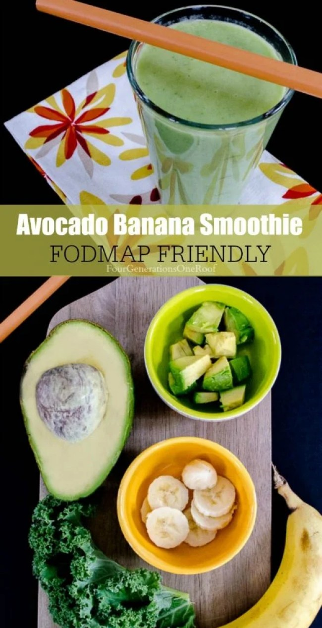 Avocado smoothie + banana + Kahl {fodmap friendly}