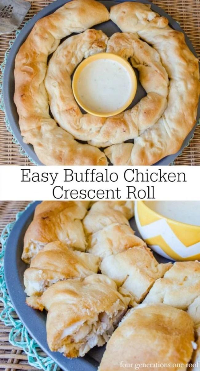 Easy Buffalo Chicken Crescent Roll