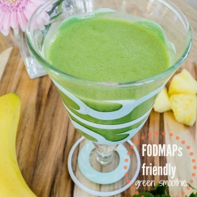 Banana Smoothie + Pineapple + Spinach {Fodmap friendly}