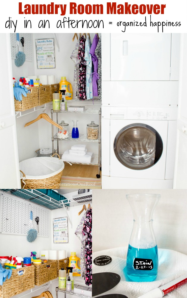 basement laundry room makeover / DIY in an afternoon