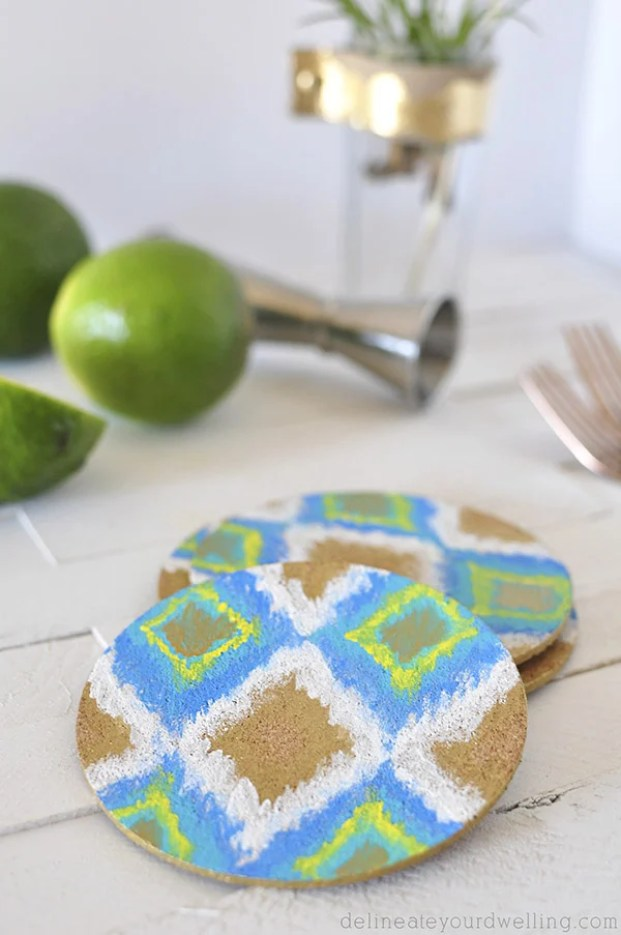 DIY-Ikat-Coaster-closeup