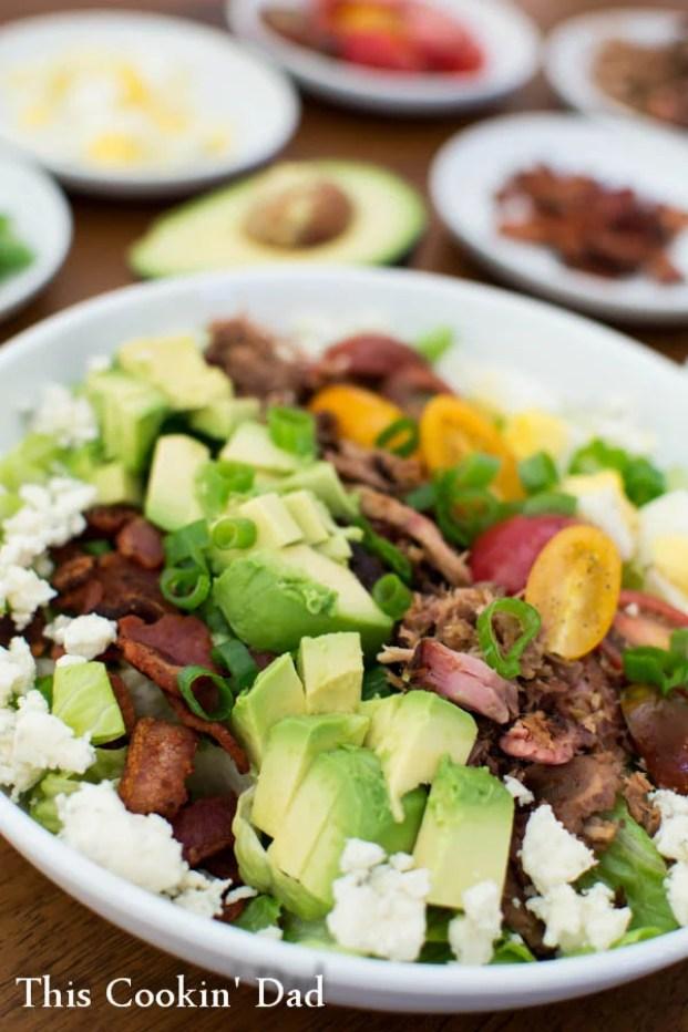 Pulled-Pork-Cobb-Salad