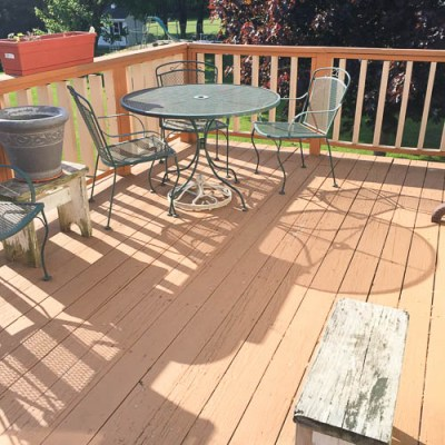 Surprise mini-deck makeover for my gram {starts today – before}