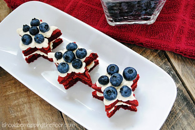 red velvet brownie stars fourth of july party ideas